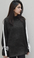 Turtle Neck With Detailing On Sleeves .  SIZE