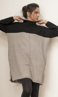 Turtle neck sweater with slits on side  SIZE