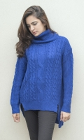 Turtle neck with woven detailing on front  SIZE
