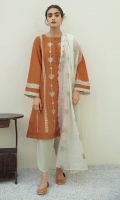 EMBROIDERED JACQUARD LAWN SHIRT  COTTON ORGANZA EMBROIDERED DUPATA  COTTON TROUSERS