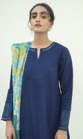 EMBROIDERED TEXTURED LAWN SHIRT  PRINTED CHIFFON DUPATTA  COTTON TROUSERS