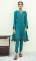 EMBROIDERED LAWN GOWN COTTON TROUSERS