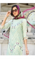 Embroidered Chiffon Stitched 3 Piece Suit