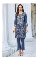 Embroidered Raw Silk Stitched 2 Piece Suit