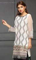 Embroidered Stitched Kurti