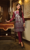 Chiffon Embroidered Stitched 2 Piece Suit (Shirt And Trouser)