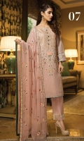 Embroidered Khaadi Net Stitched 3 Piece Suit