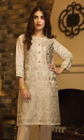 Embroidered Organza Stitched 2 Piece Suit