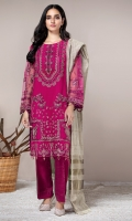 NET EMBROIDERED SHIRT KHAADI LOOM SHAWL RAW SILK TROUSERS (INCLUDING ACCESSORIES)