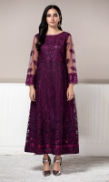 NET EMBROIDERED GOWN RAW SILK TROUSERS (INCLUDING LINING & ACCESSORIES)