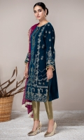 VELVET EMBROIDERED SHIRT EMBROIDERED PURE CRINKLE CHIFFON DUPATA JAMAWAR TROUSERS ACCESSORIES (INCLUDED)