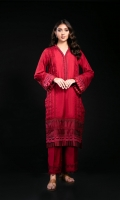 Embroidered Cotton Silk Stitched 2 Piece Suit