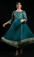 Embroidered Georgette Stitched 3 Piece Suit