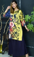 Silk Kurta with Box Cuts Sleeves Embellished with Fabric Tussels and Pearls Neck Slit Open with Flower Gold Buttons