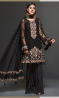 Embroidered Chiffon Shirt Embroidered Chiffon Dupatta Dyed Bottom