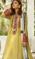 Embroidered Cotton Unstitched 3 Piece Suit