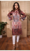 Digital Printed Pure Charmeuse Silk Kurti