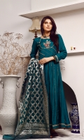 fancy frock with hand embriodery work on body ,lace work in panels & daman with fancy organza dupatta