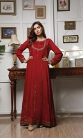 fancy frock with hand embriodery work on body ,lace work in panels & daman