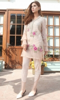 Color: Pink  Includes: Shirt & Tulip Pant  Shirt: Cotton Net & Organza  Tulip Pant: Grip