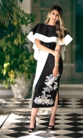 Color: Black & White  Includes: Top & skirt  Top & skirt: Raw Silk