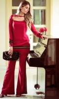 Color: Red  Includes: Shirt & Pant  Shirt: Raw Silk  Pant: Raw Silk