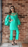Color: Green  Includes: Shirt & Pant  Shirt: Raw Silk  Pant: Raw Silk