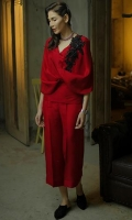 Color: Red  Includes: Shirt, Slip & Pant  Shirt: RAW SILK 80  Slip: MEDIUM SILK  Pant: RAW SILK