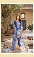 Shirt Base Digital Printed  Embroidered  Digital Print Embroidered Chiffon Dupatta with Cut work  Dyed Dobby Cambric Trouser