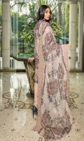 Digital Print Embroidered Front =1.25 Mtr Digital Print Back & Sleeve = 1.95 Mtr Digital Print Embroidered Chiffon Dupatta with Cut work = 2.50 Mtr Dyed Trouser = 2.50 Mtr
