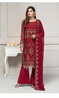 Shirt: - Embroidered Chiffon Dupatta: - Embroidered Chiffon Trouser: - Dyed
