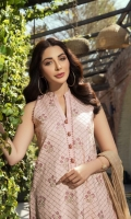 Embroidered Lawn Front  Embroidered Lawn Sleeves  Embroidered Daman Border  Embroidered Sleeves Border  Dyed Jacquard Trousers  Dyed Jacquard Lawn Dupatta
