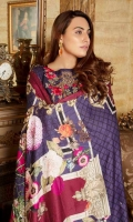 Digital Embroidered Khaddar Front Digital Printed Khaddar Back Digital Printed Khaddar Sleeves Khaddar Trouser Digital Cotail Shawl