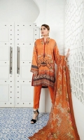 Digital Printed Linen Front Digital Printed Linen Back Digital Printed Linen Sleeves Digital Chikankari Chiffon Dupatta Linen Trouser