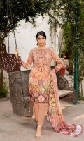 Digital Embroidered Linen Front Digital Printed Linen Back Linen Trouser Digital Chikankari Chiffon Dupatta
