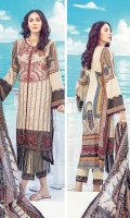 Digital Printed Embroidered Front – 1.25 M Digital Printed Back – 1.25 M Digital Printed Sleeves – 0.66 M Digital Printed Lawn Dupatta – 2.5 M Dyed Cambric Trouser – 2.5 M Front Border – 0.85 M Sleeves Border – 1.10 M Duapatta Lace – 7.9 M