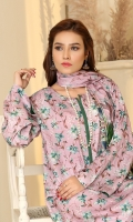 Digital Printed Linen Shirt (2.85 Meter) Digital Printed Linen Dupatta (2.5 Yard) Plan Linen Trouser (2.5 Yard)