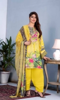 Digital Embroidered Karandi Front Digital Printed Karandi Back Digital Printed Karandi Sleeves Digital Printed Chiffon Dupatta Karandi Trouser