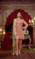 Embroidered Chiffon Front  Embroidered Chiffon Back  Embroidered Chiffon Sleeve Embroidered Chiffon Dupatta Pk Raw Silk Dyed Trouser