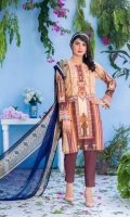 Digital and Embroidered Lawn Front  Digital Printed  Lawn Back   Digital Printed Chiffon Dupatta