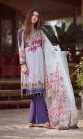 lawn print emboridered front lawn printed back lawn printed sleeves Chiffon Printed emboridered Duppata Plain trouser