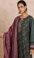 2.5 Meters Printed Cambric Shirt, 2.5 Meters Printed Cambric Dupatta, 2 Meters Dyed Cambric Bottom.