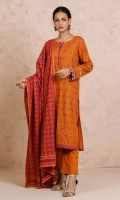 2.5 Meters Printed Cambric Shirt, 2.5 Meters Printed Cambric Dupatta, 2 Meters Dyed Cambric Bottom