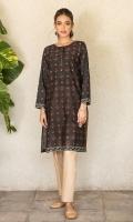 Digital Printed Doria Lawn Shirt, Bead & Dori for Embellishment