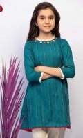 Sheesha Embroidered Flared Top With Contrasting Trims, Fabric: Self Jacquard