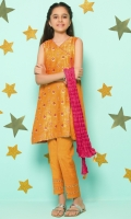 Cotton Jamawar Top  Raw Silk Straight Pants  Cotton Crush Embellished Dupatta