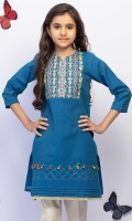 Straight Top With Embroidered Neckline Zari Embellished Sleeves And Tasseled Hemline, Fabric: Zari stripes