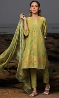 3 Meters Dyed Jacquard Shirt  2 Meters Dyed Cambric Bottom (Wider Width)  2.5 Meters Digital Printed Tissue Silk Dupatta