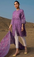 3 Meters Printed Lawn Shirt, 2.5 Meters Printed Lawn Dupatta, Fabric: Printed Lawn