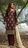 Embroidered Linen Unstitched 3 Piece Suit